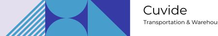 Transportation Company profile on geometric pattern LinkedIn Cover Modelo de Design