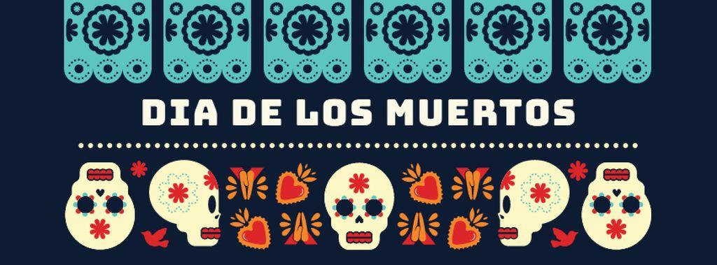 Skulls in Dia de los muertos masks — ein Design erstellen