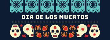 Skulls in Dia de los muertos masks