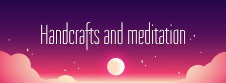 Handcrafts and Meditation Offer Facebook cover Modelo de Design