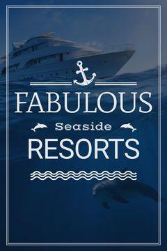 Seaside Resorts Promotion Ship in Sea