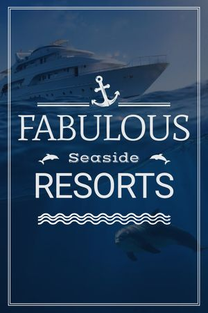 Seaside Resorts Promotion Ship in Sea Tumblr Modelo de Design