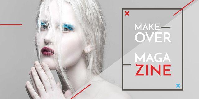 Template di design Makeover magazine poster Image