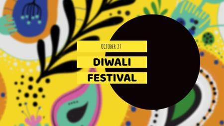 Diwali Festival Announcement on Bright Pattern FB event cover Modelo de Design