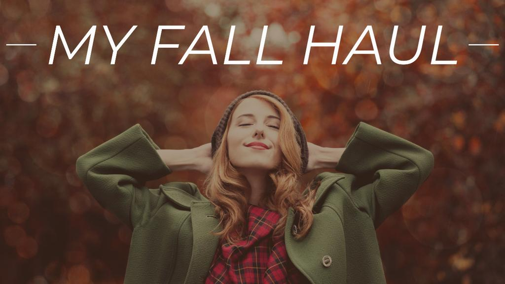 Autumn Outfit Stylish Woman in Warm Clothes — Créer un visuel