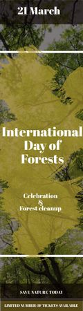 International Day of Forests Event Tall Trees Skyscraper Design Template