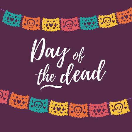 Day of the Dead Holiday with Woman in Carnival Makeup Animated Post – шаблон для дизайна