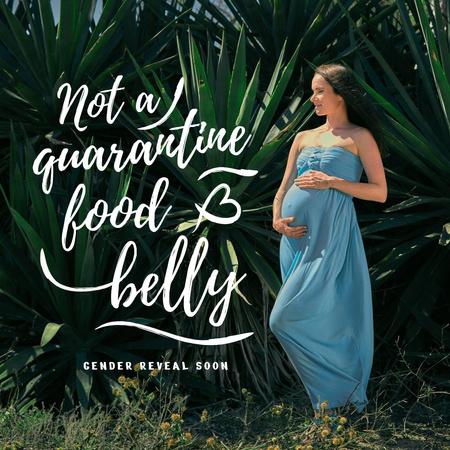 Plantilla de diseño de Happy Pregnant Woman in Exotic Plants Instagram