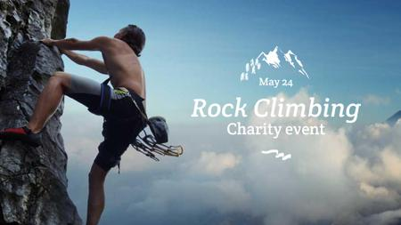Designvorlage Charity Event Announcement with Climber für FB event cover