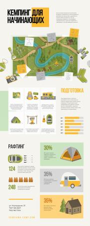 Map Infographics about Camping area Infographic – шаблон для дизайна