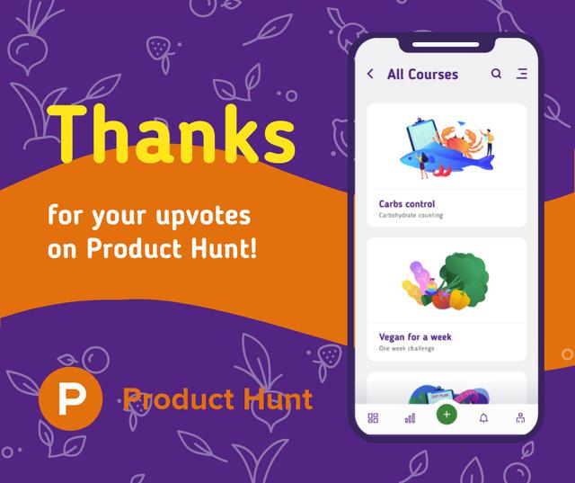 Modèle de visuel Product Hunt Online Courses Page on Screen - Facebook