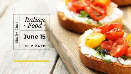 Modèle de visuel Masterclass promotion with Italian dish - FB event cover