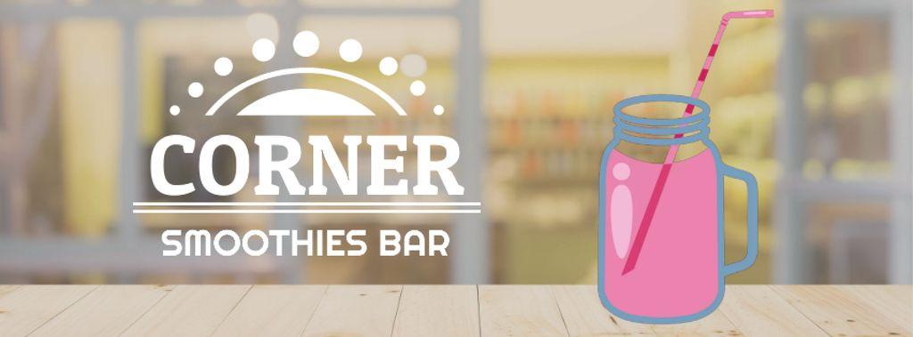 Pink drink in glass jar on table — Modelo de projeto