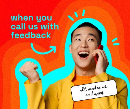 Manager is amused by Feedback Facebook Design Template