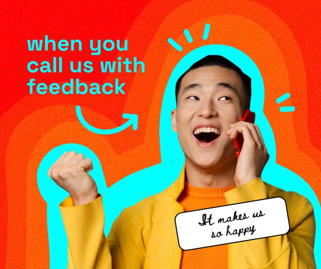 Manager is amused by Feedback Facebookデザインテンプレート