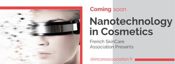 Nanotechnology in Cosmetics with Woman in Modern Glasses