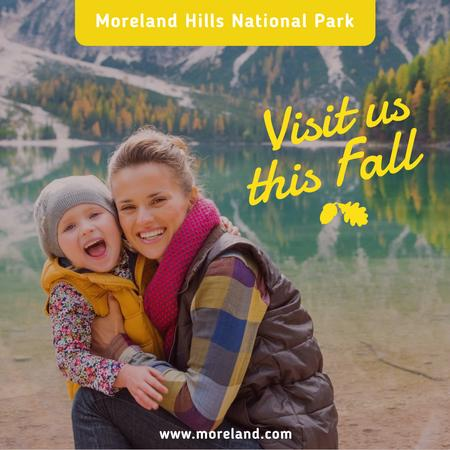 Plantilla de diseño de Mother and daughter travelling to National park Instagram AD