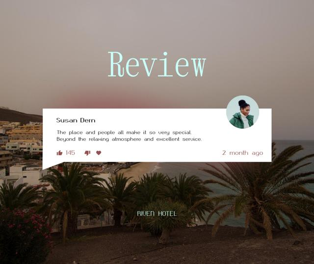 Visitor Review with Summer Cityscape Facebook Modelo de Design