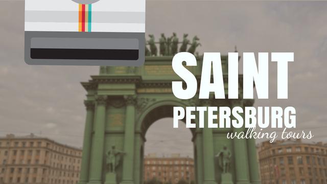 Modèle de visuel Saint Petersburg Narva Triumphal Arch Travelling Spot - Full HD video
