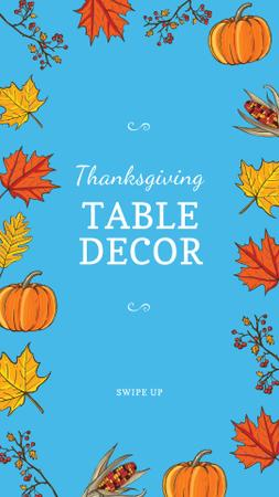 Ontwerpsjabloon van Instagram Story van Thanksgiving Table Decor Offer