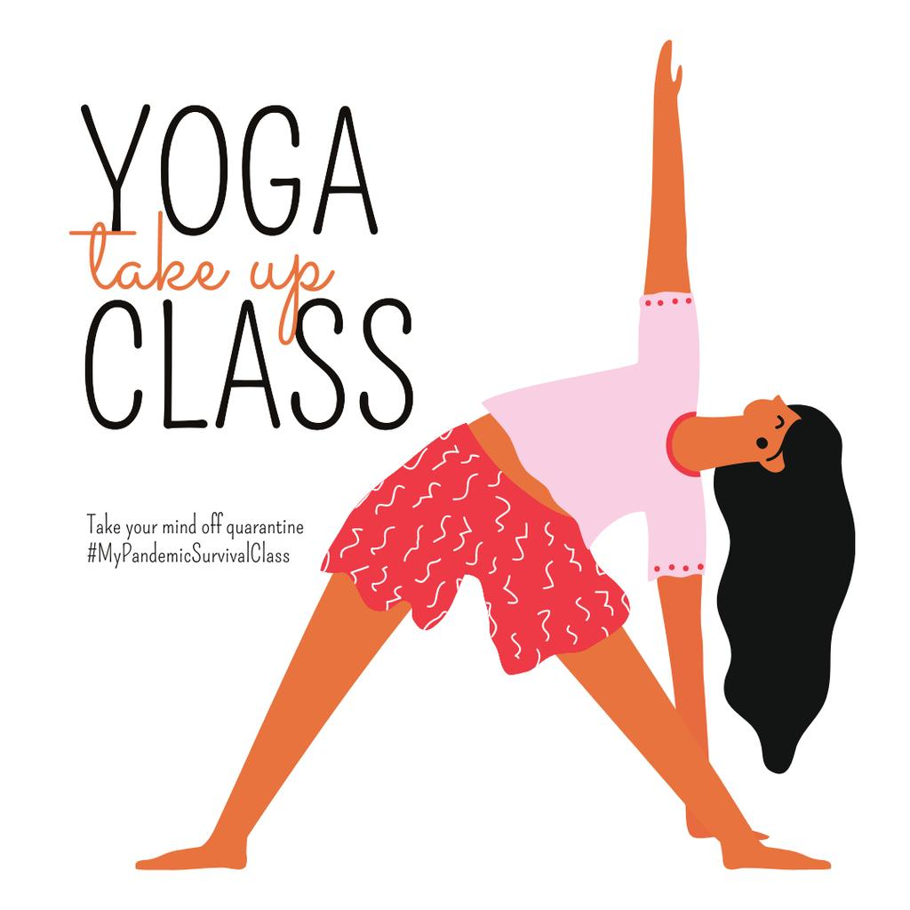 #MyPandemicSurvivalClass Yoga Class Ad during Quarantine — Створити дизайн