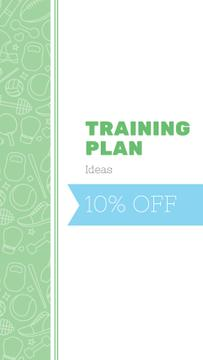 Training Plan Ideas with sport icons
