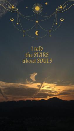 Szablon projektu Phrase of Day of the Dead with Sunset Sky Instagram Story