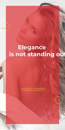Elegance quote with Young attractive Woman Graphic Tasarım Şablonu