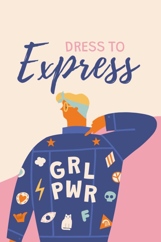 Girl Power bright Inspiration Tumblr – шаблон для дизайну