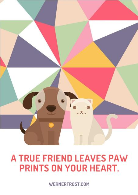 Szablon projektu Citation about a true friend Poster