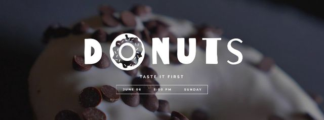 Template di design Sweet Donut with chocolate chips Facebook Video cover