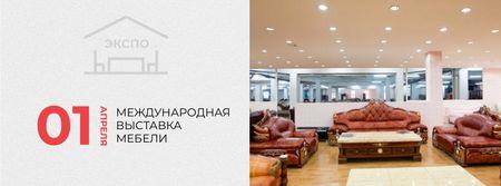 Interior Design Event with Vintage Furniture Facebook cover – шаблон для дизайна