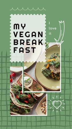 Template di design Healthy Vegan Breakfast on Table Instagram Story