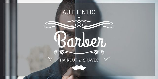 advertisement poster for barbershop Image Design Template