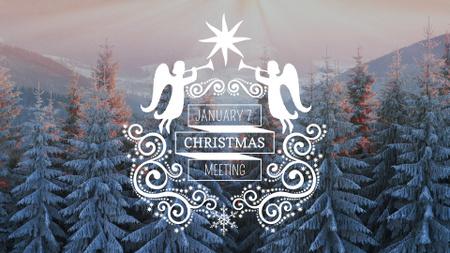 Plantilla de diseño de Orthodox Christmas Event Announcement with Holiday Angels FB event cover
