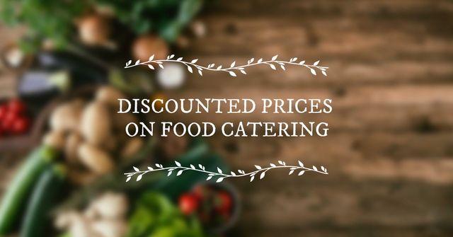 Catering Service Vegetables on table Facebook AD – шаблон для дизайну