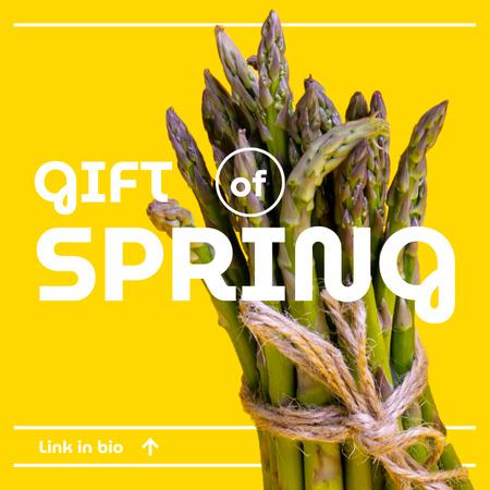 Designvorlage Veggie Store Offer with Fresh Asparagus für Album Cover