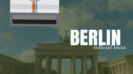 Ontwerpsjabloon van Full HD video van Tour Invitation with Berlin City Spots