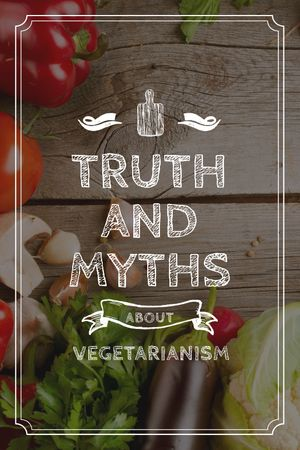 Plantilla de diseño de Vegetarian Food Vegetables on Wooden Table Tumblr