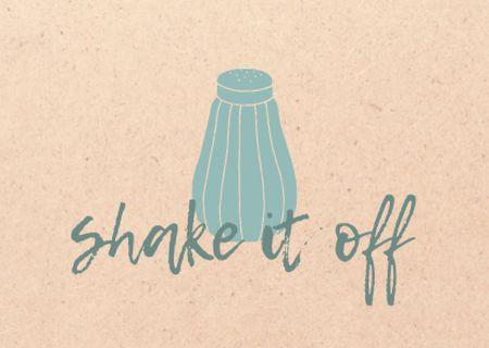 Ontwerpsjabloon van Card van Funny Phrase with Salt Shaker