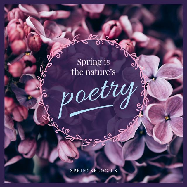 Spring inspiration with Lilac flowers Instagram AD Tasarım Şablonu