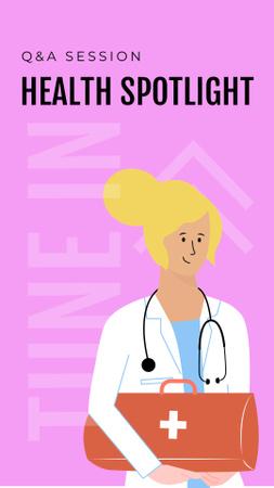 Plantilla de diseño de Medical Services with friendly Doctor Instagram Story