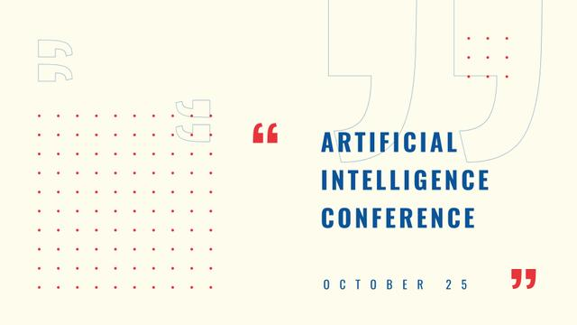 Artificial Intelligence Conference Announcement FB event coverデザインテンプレート