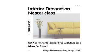 Interior decoration masterclass with Yellow Sofa
