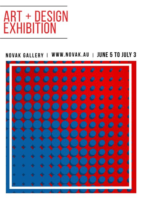 Template di design Art Exhibition announcement Contrast Dots Pattern Flayer