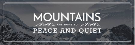 Ontwerpsjabloon van Email header van Mountain hiking travel