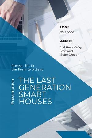 Presentation for smart houses expo Pinterestデザインテンプレート
