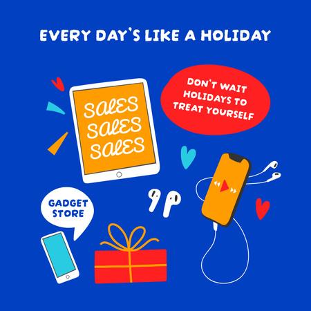 Gadget Store Promotion with Devices Illustration Instagram – шаблон для дизайну