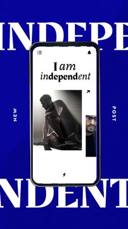 Ontwerpsjabloon van Instagram Story van Manhood inspiration with Young Man in Light