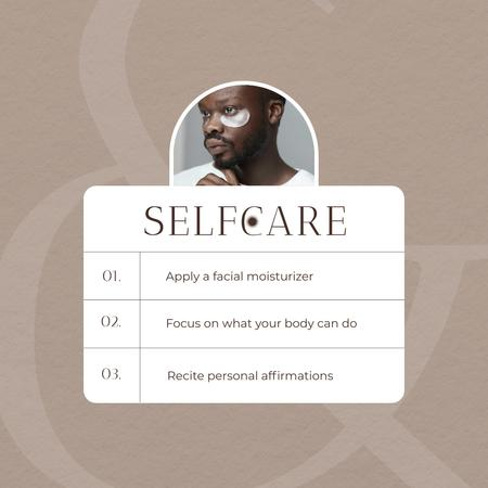 Selfcare Ad with Cosmetic Eyepatches on Man's Face Instagram – шаблон для дизайну